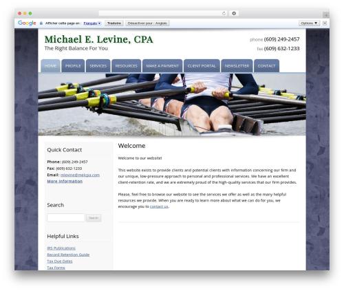 Customized company WordPress theme - melcpa.com