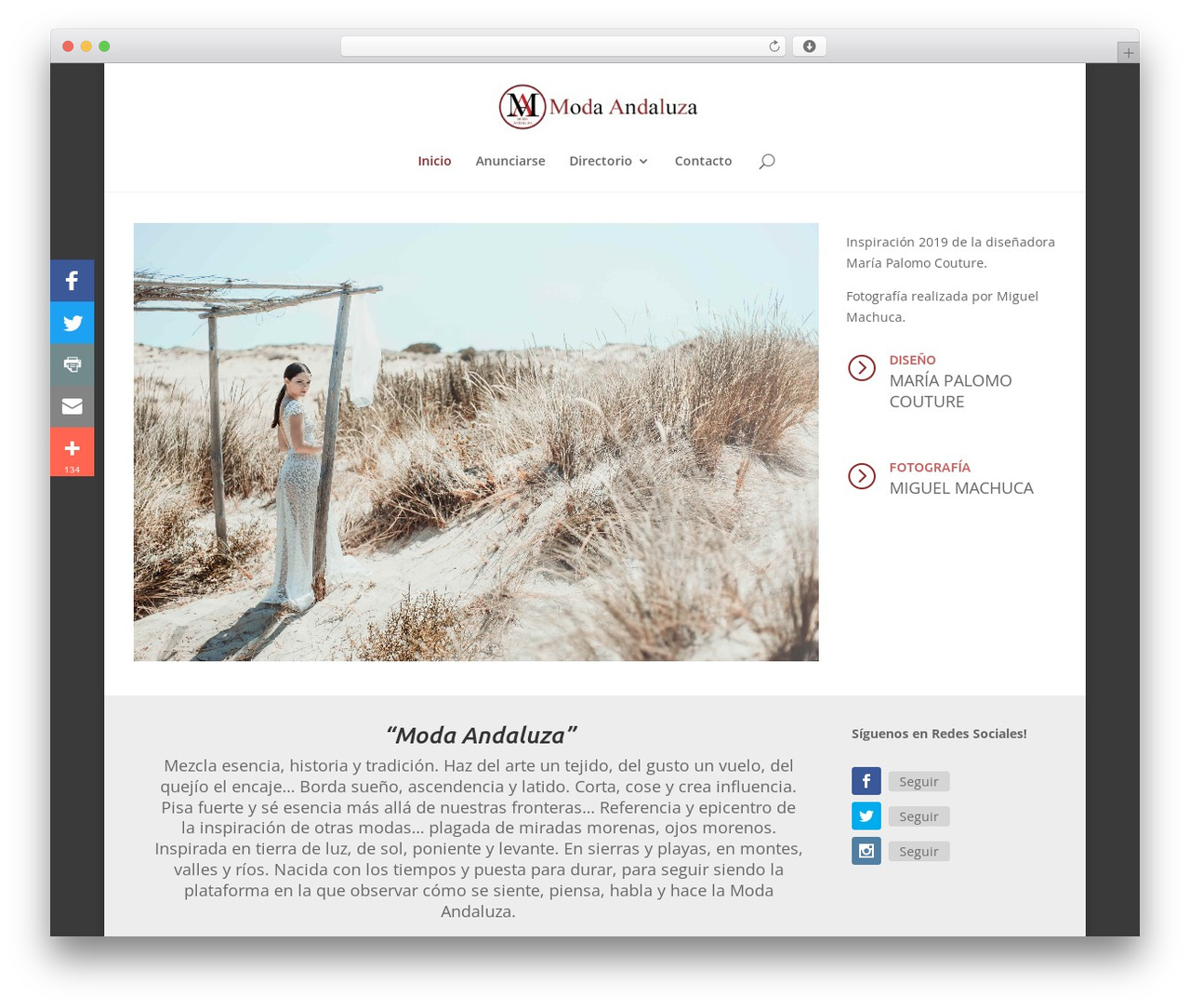 Divi WordPress shop theme - modaandaluza.com