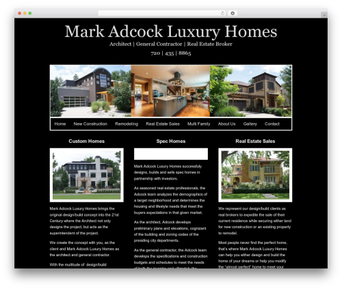 Gridiculous WP template - markadcockluxuryhomes.com