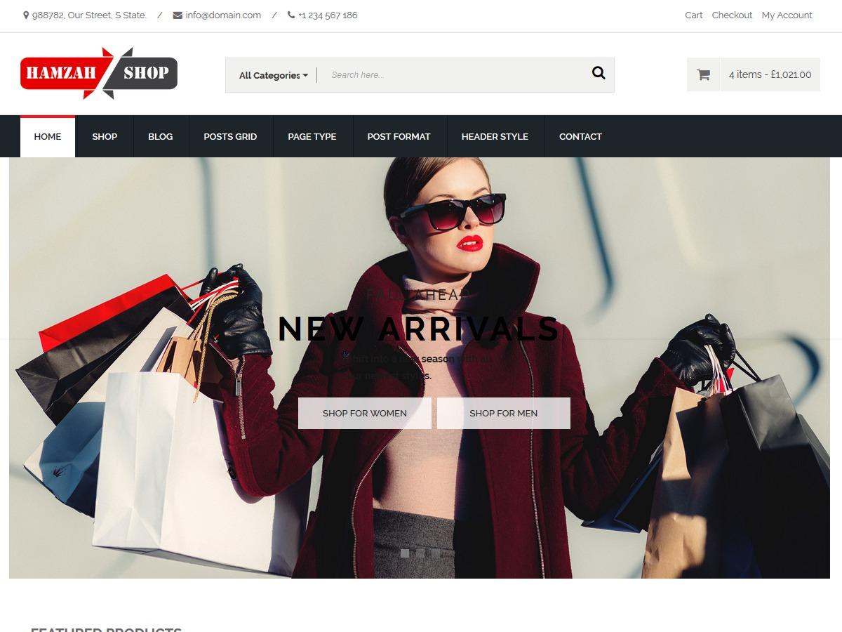 HamzahShop WordPress shop theme