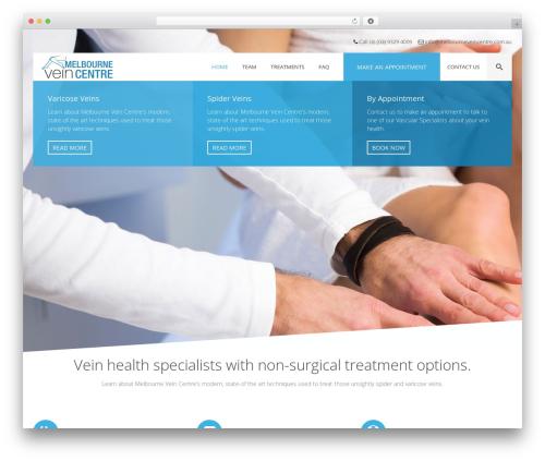 Health&Medical medical WordPress theme - melbourneveincentre.com.au