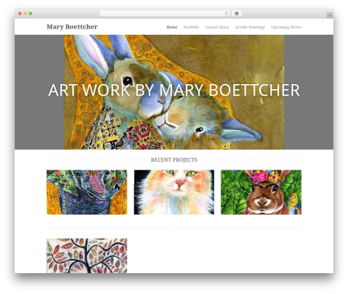 Hero WordPress template - maryboettcher.com