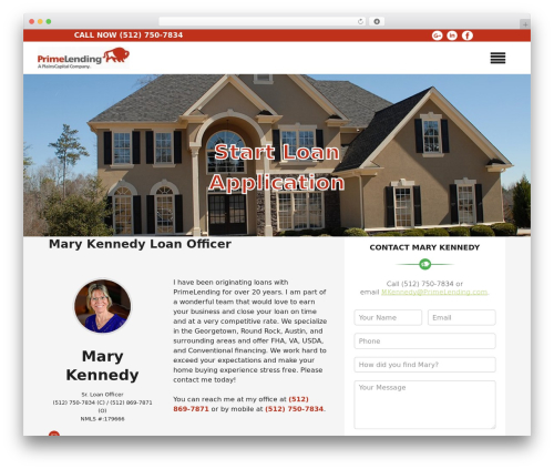 Insurance Now theme WordPress free - marykennedymortgage.com