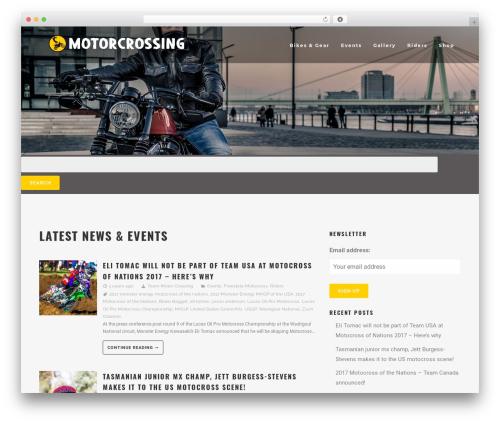 MotoBlog WordPress news template - motorcrossing.com
