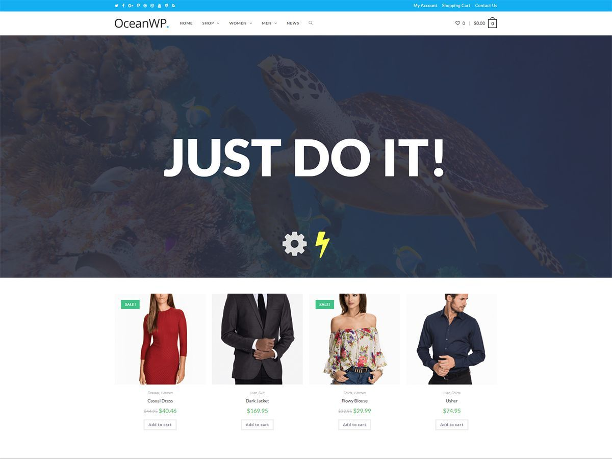 OceanWP-WMS WordPress theme