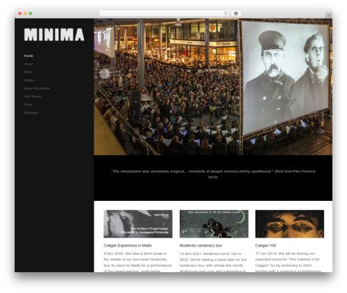 Showcase WordPress theme - minimamusic.co.uk