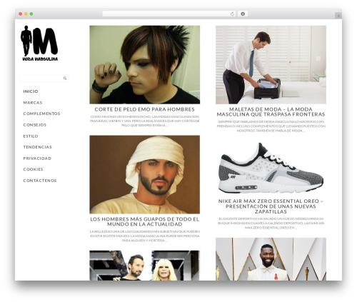 Side Grid Responsive WordPress Theme WordPress website template - modamasculina.org