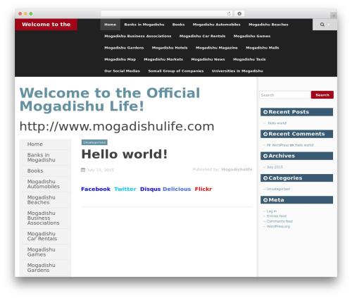 SmartAdapt free WordPress theme - mogadishulife.com