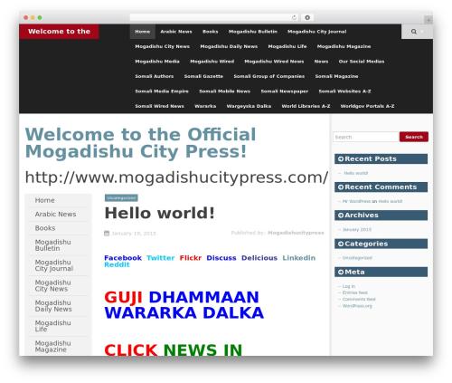 SmartAdapt WordPress template free - mogadishucitypress.com