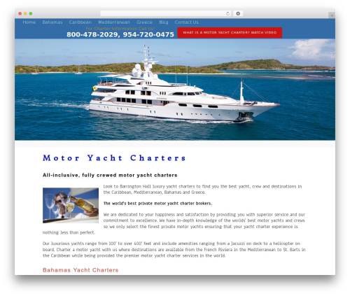 Tesseract WordPress theme design - motoryacht.org