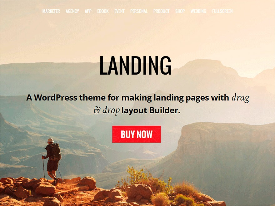 Themify Landing WordPress page template