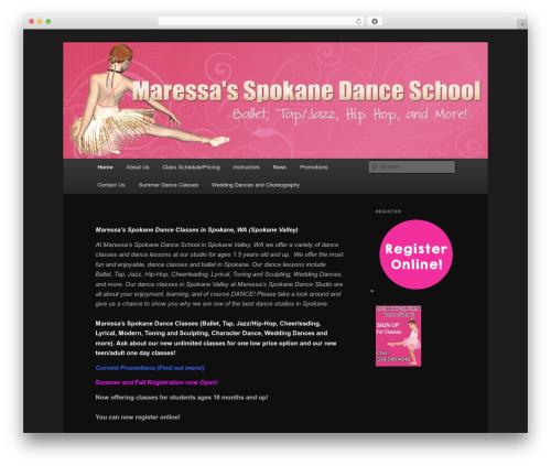 Twenty Eleven free WordPress theme - maressasdance.com