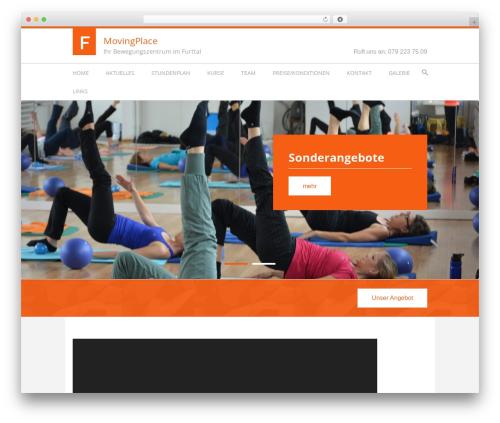 WordPress theme Fitness Life Child Theme - movingplace.ch