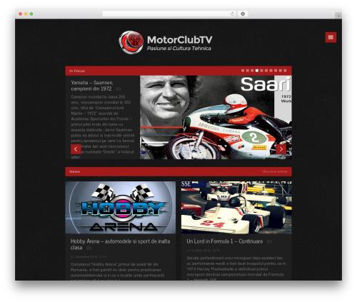 WordPress website template Forca Premium Theme - motorclubtv.com