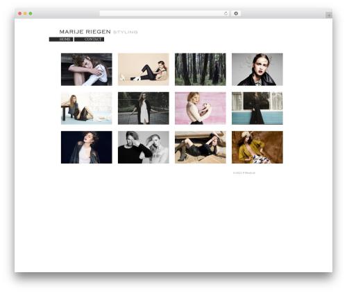 WP template BLANK Theme - marijeriegen.com