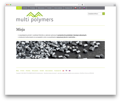 Academica free WP theme - multipolymers.com/home