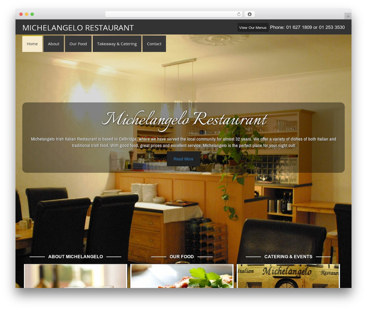 Agency Pro Theme WordPress website template - michelangelo.ie
