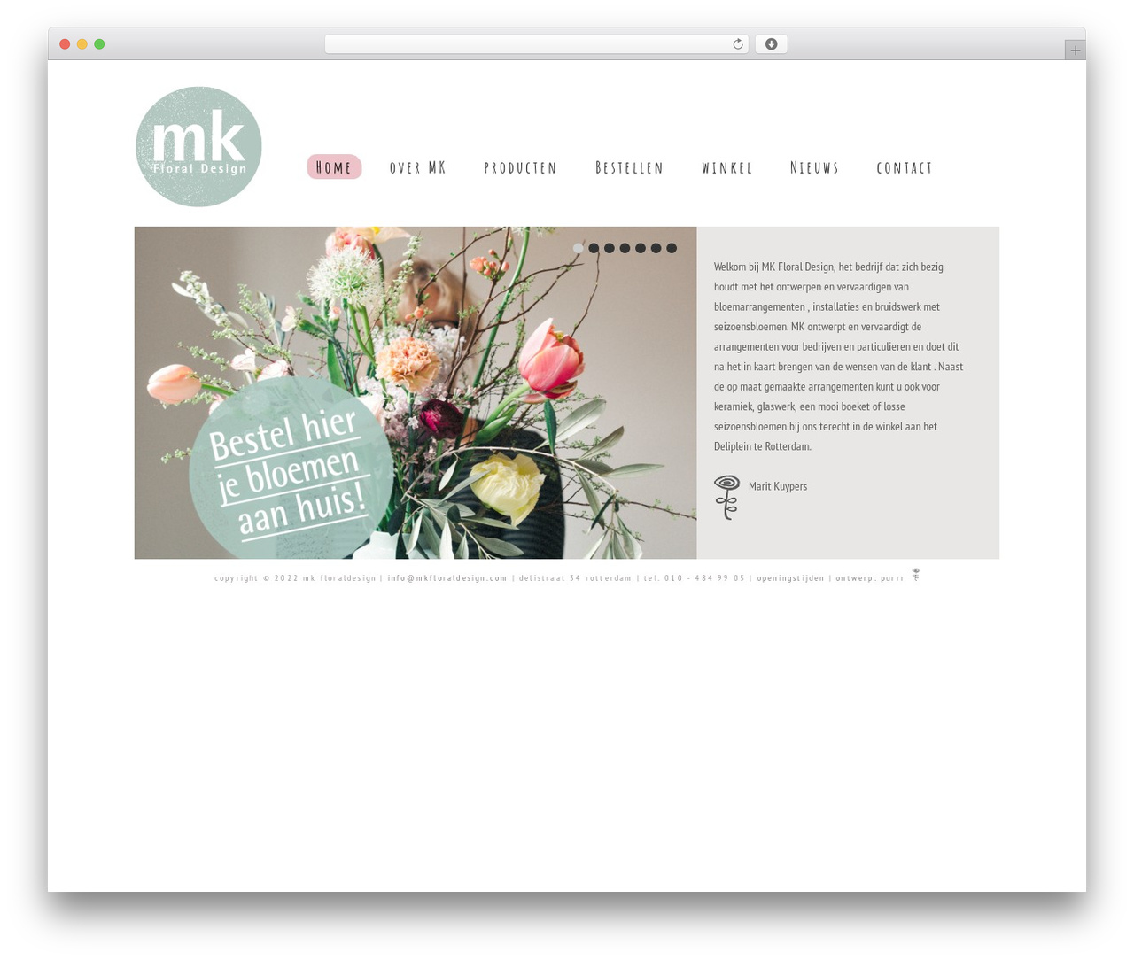 Catalyst WordPress theme - mkfloraldesign.com