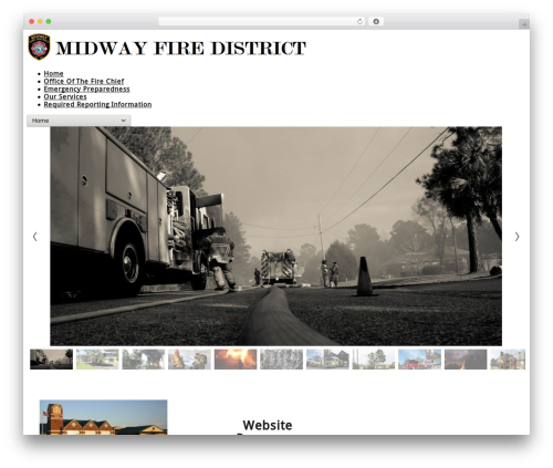 cherry WordPress website template - midwayfire.com