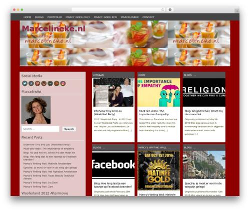 Codium Grid best free WordPress theme - marcelineke.nl