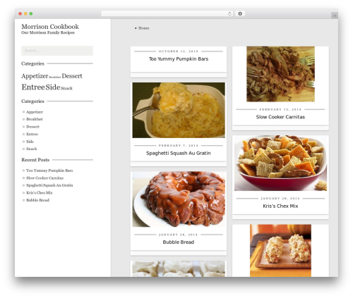 CookingPress WordPress page template - morrisoncookbook.com