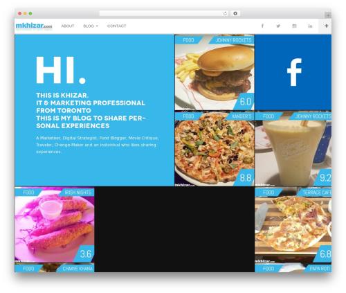 DW Fixel WordPress theme - mkhizar.com