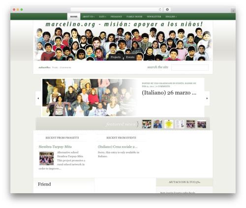 eNews newspaper WordPress theme - marcelino.org