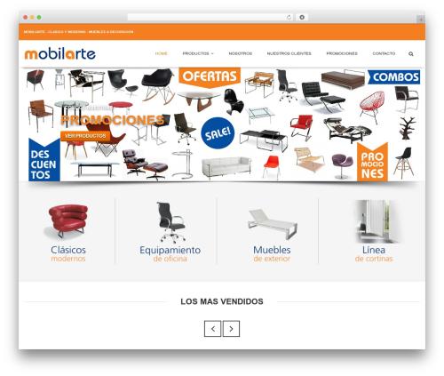 Flatize Fashion Ecommerce WordPress theme - mobilarte.com.ar