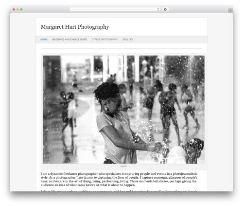 Fresh & Clean WordPress gallery theme - margarethart.com
