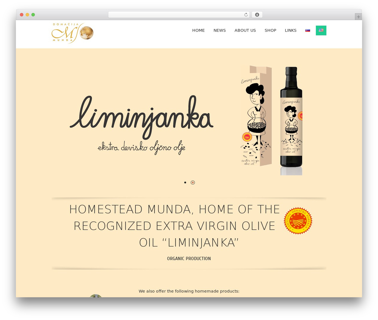 Fruitful free WordPress theme - munda.com