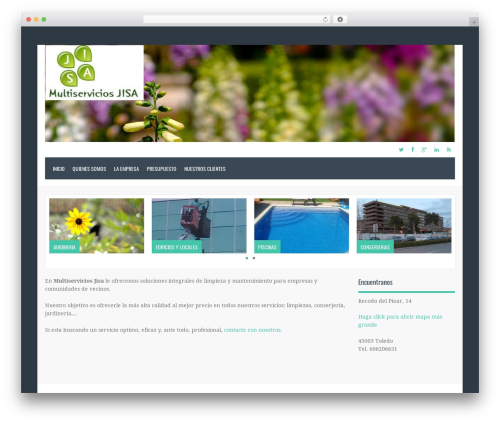 Oceanus WordPress template - multiserviciosjisa.com