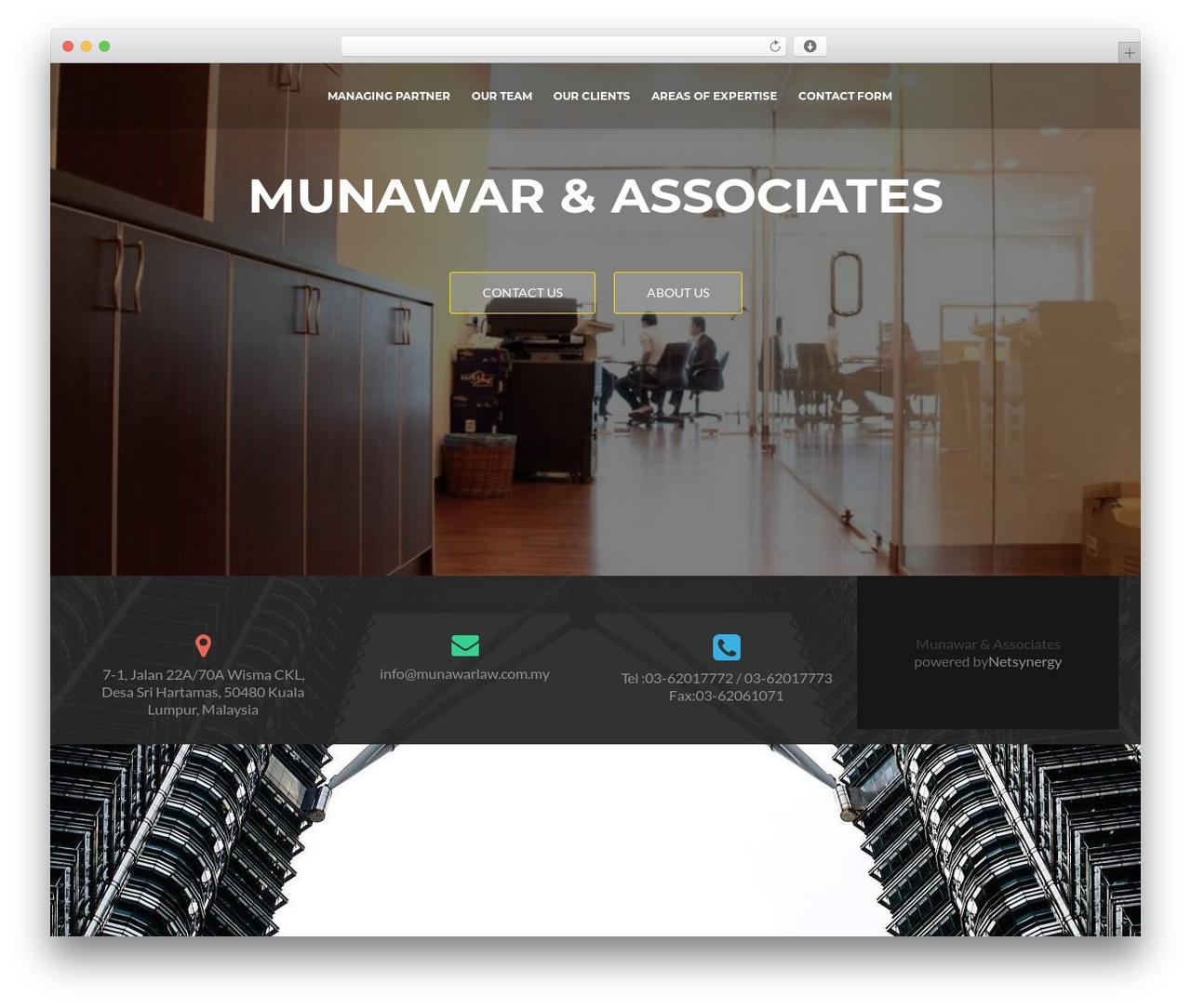ResponsiveBoat WordPress theme - munawarlaw.com