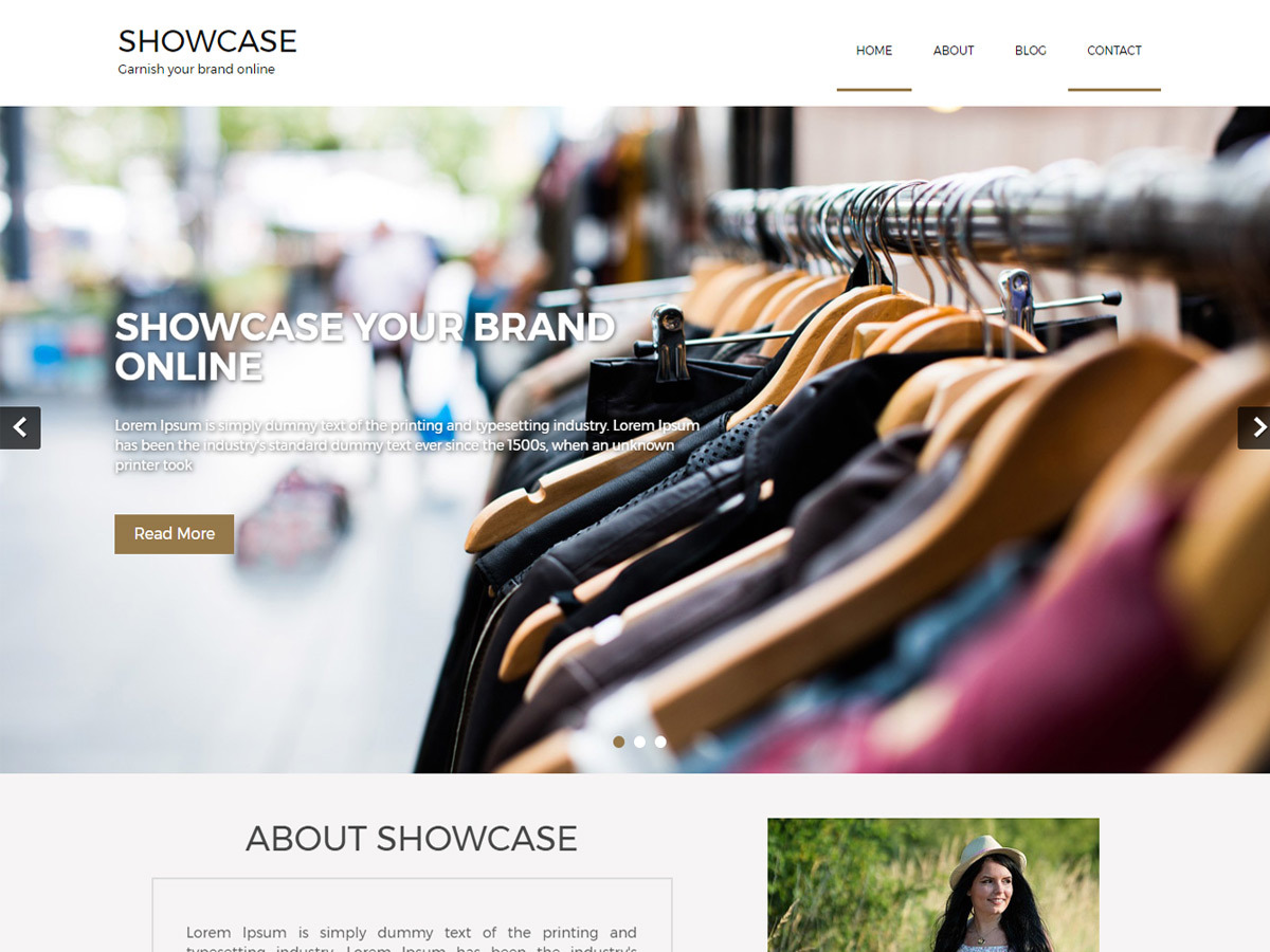 Showcase Lite theme WordPress free