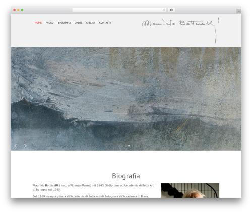 SKT Parallaxme WordPress theme design - mauriziobottarelli.it