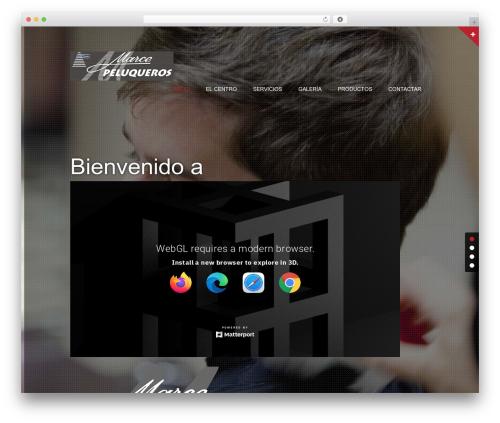 Theme WordPress haircare - marcepeluqueros.com