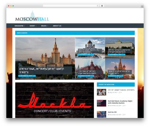 Theme WordPress MH Magazine lite - moscowhall.com