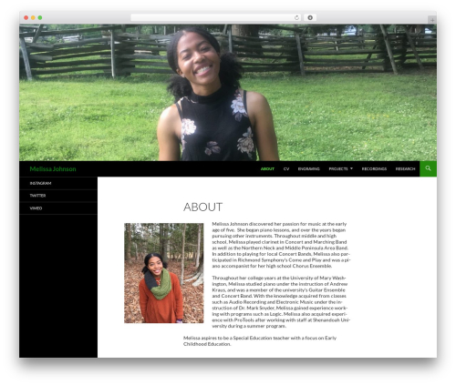 Twenty Fourteen WordPress template free - melissamj.com