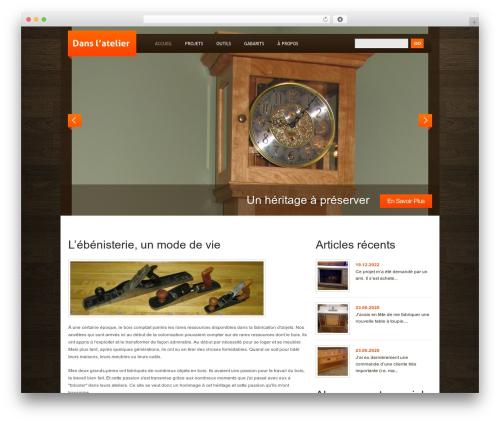 WordPress Theme 1384 WP theme - mariobrissette.com