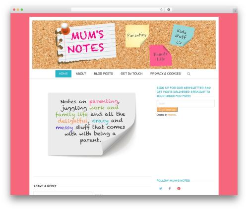 WordPress theme Creativo Theme - mumsnotes.com
