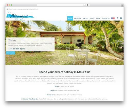 WordPress theme RealHomes Theme - miramar-villas-mauritius.com