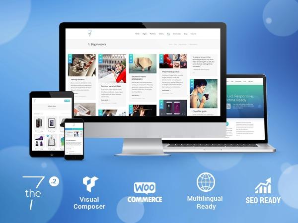 WordPress website template The7.2