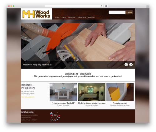 Yasmin WordPress theme - mhwoodworks.nl
