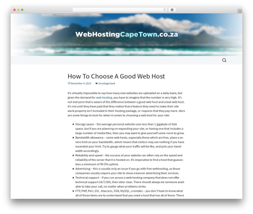 2013 Blue Sequence WordPress theme design - webhostingcapetown.co.za