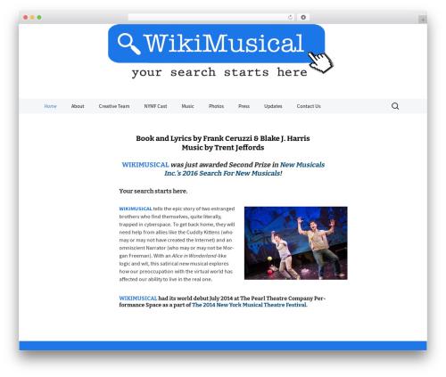 2013 Blue WordPress theme design - wikithemusical.com