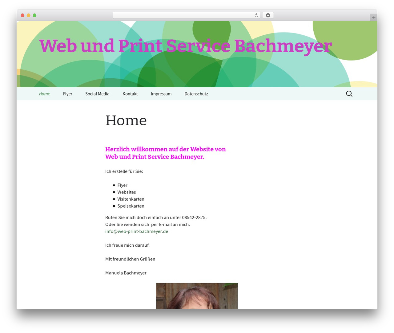 2013 Green WordPress theme - web-print-bachmeyer.de