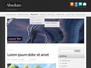 Absolum top WordPress theme