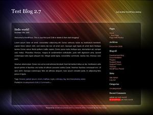 Acid Rain WordPress theme design