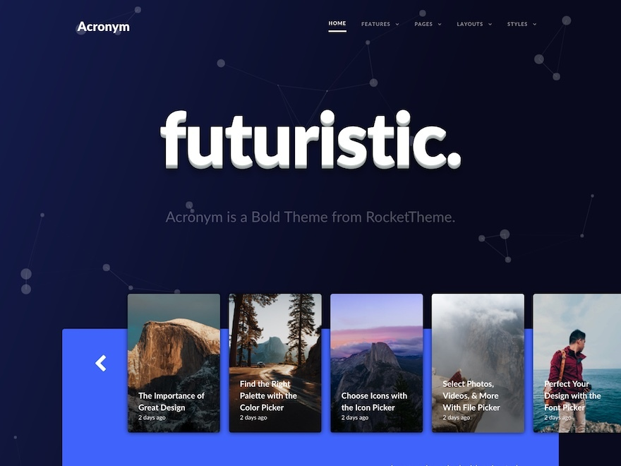Acronym WordPress theme