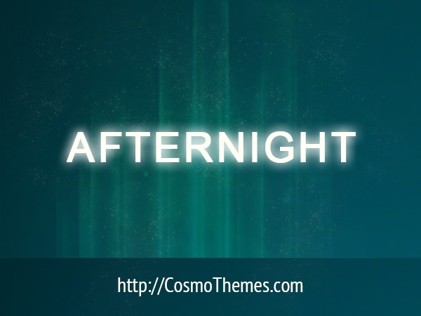Afternight top WordPress theme