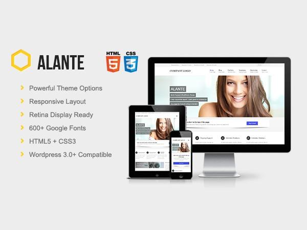 Alante Pro WordPress blog theme